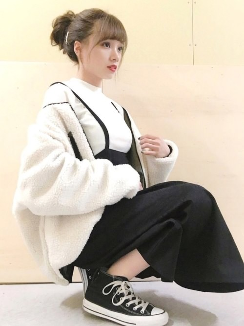 脱・子供!ジャンパースカートとヘアアレンで作る大人スタイル☆おだんご