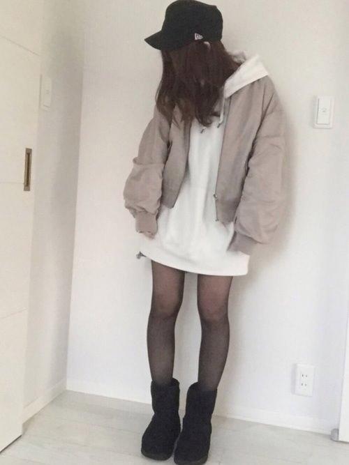 ムートンブーツと合わせるヘアアレンジ☆1
