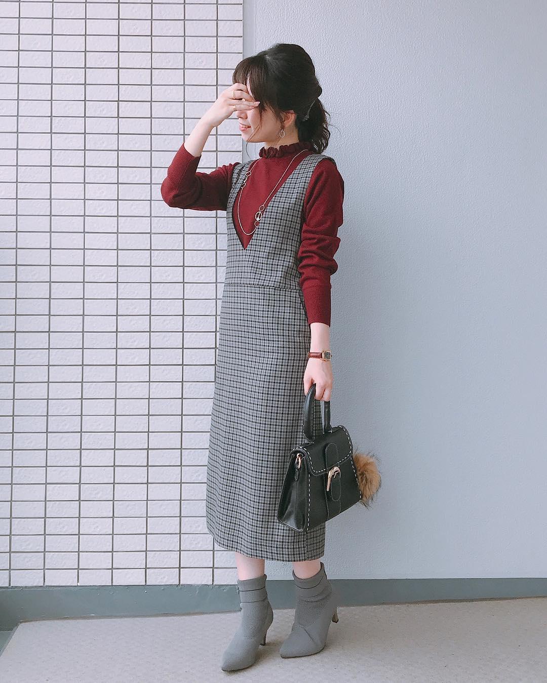 脱・子供!ジャンパースカートとヘアアレンで作る大人スタイル☆