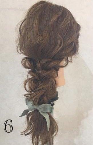 スタイルアップ!ウエストマークファッションに合うヘアスタイル6
