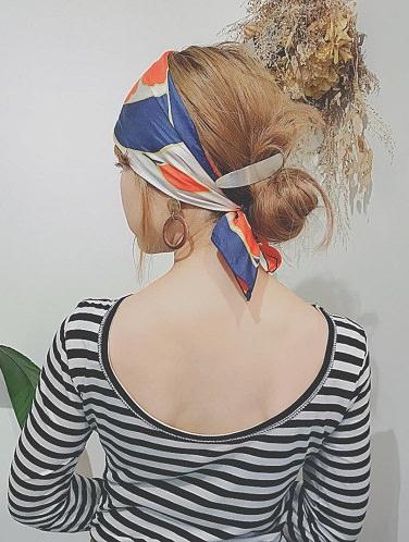暖かい休日にぴったり♪スカーフに合うヘアアレンジ