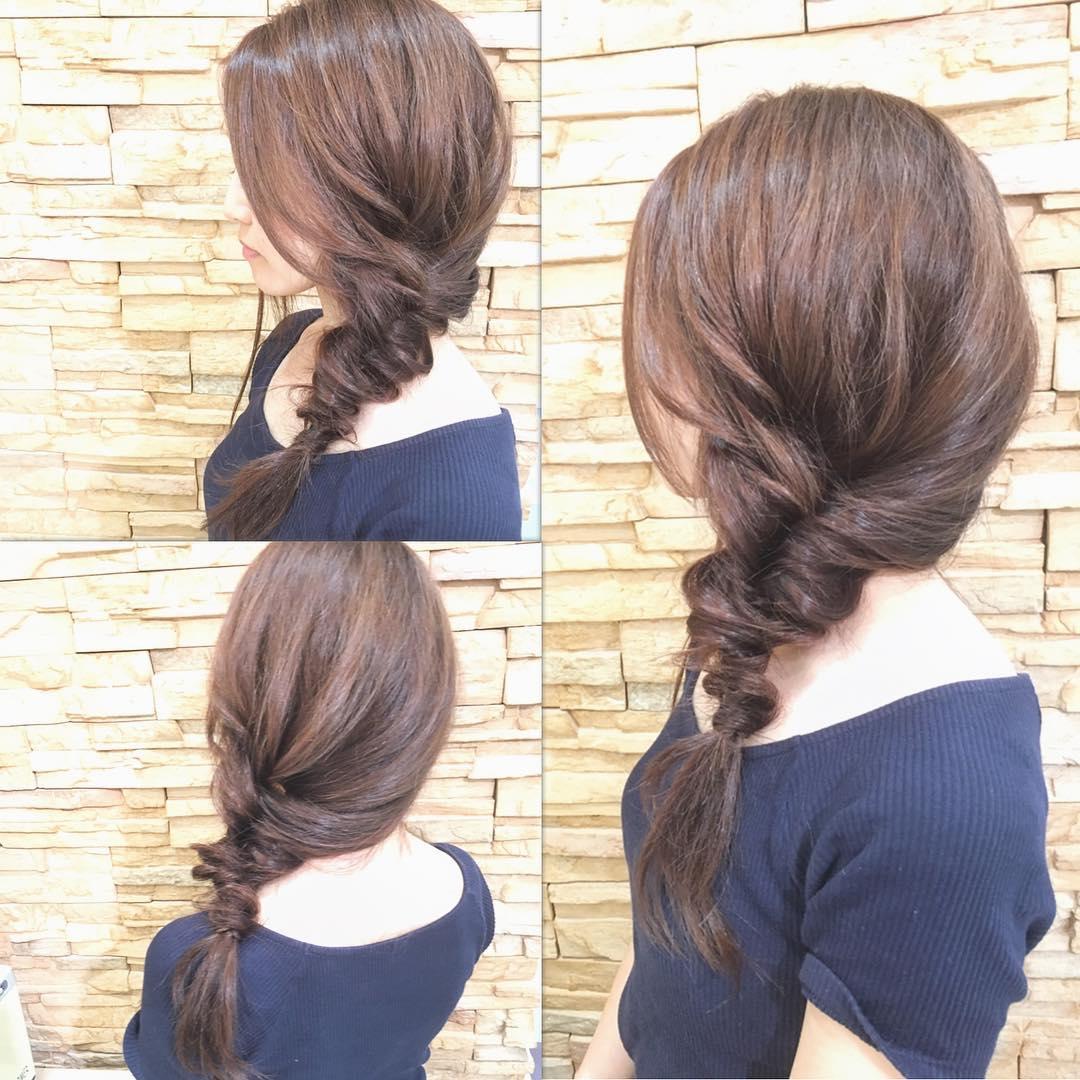 忙しい朝でも◎髪を巻かずにできるヘアアレンジ7
