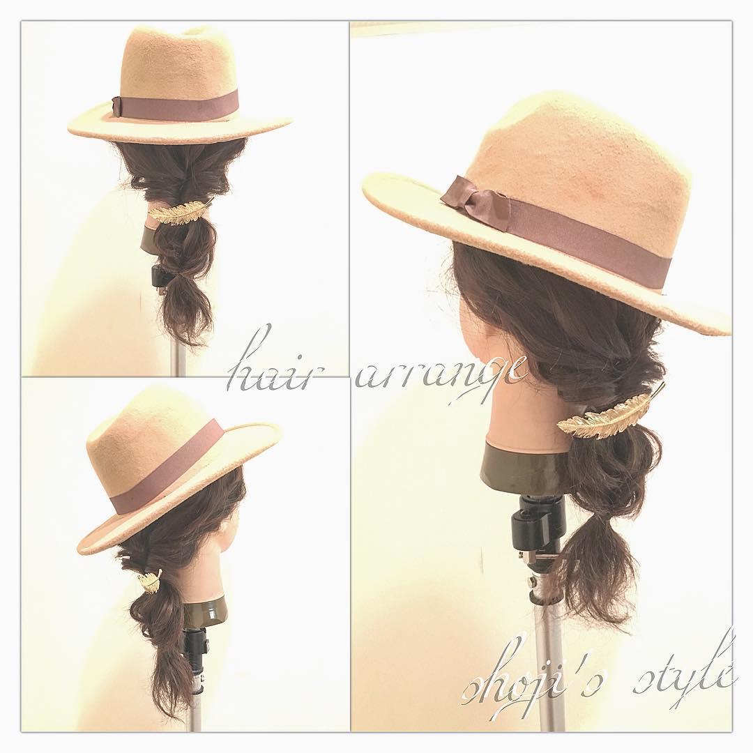 日焼け対策にばっちり◎帽子を被る時におすすめのヘアアレンジ4