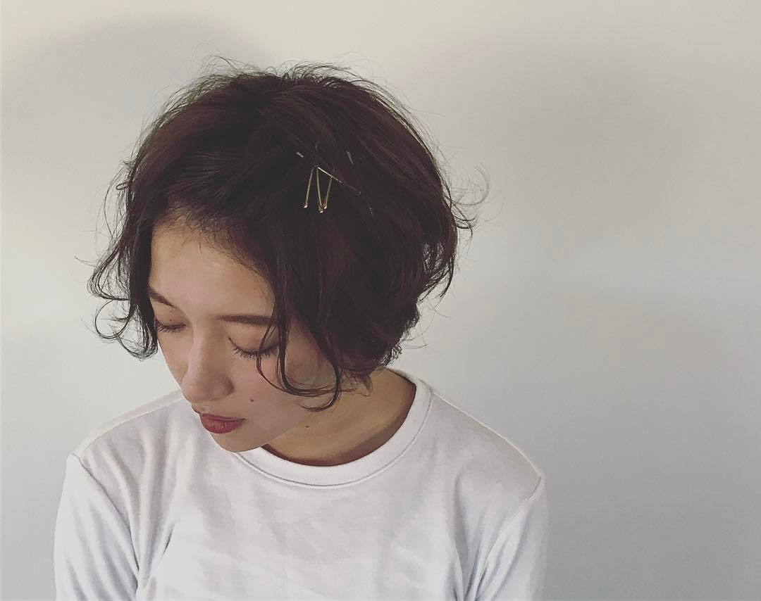 汗でぺったんこになる心配なし◎前髪アレンジでつくるオシャレスタイル3