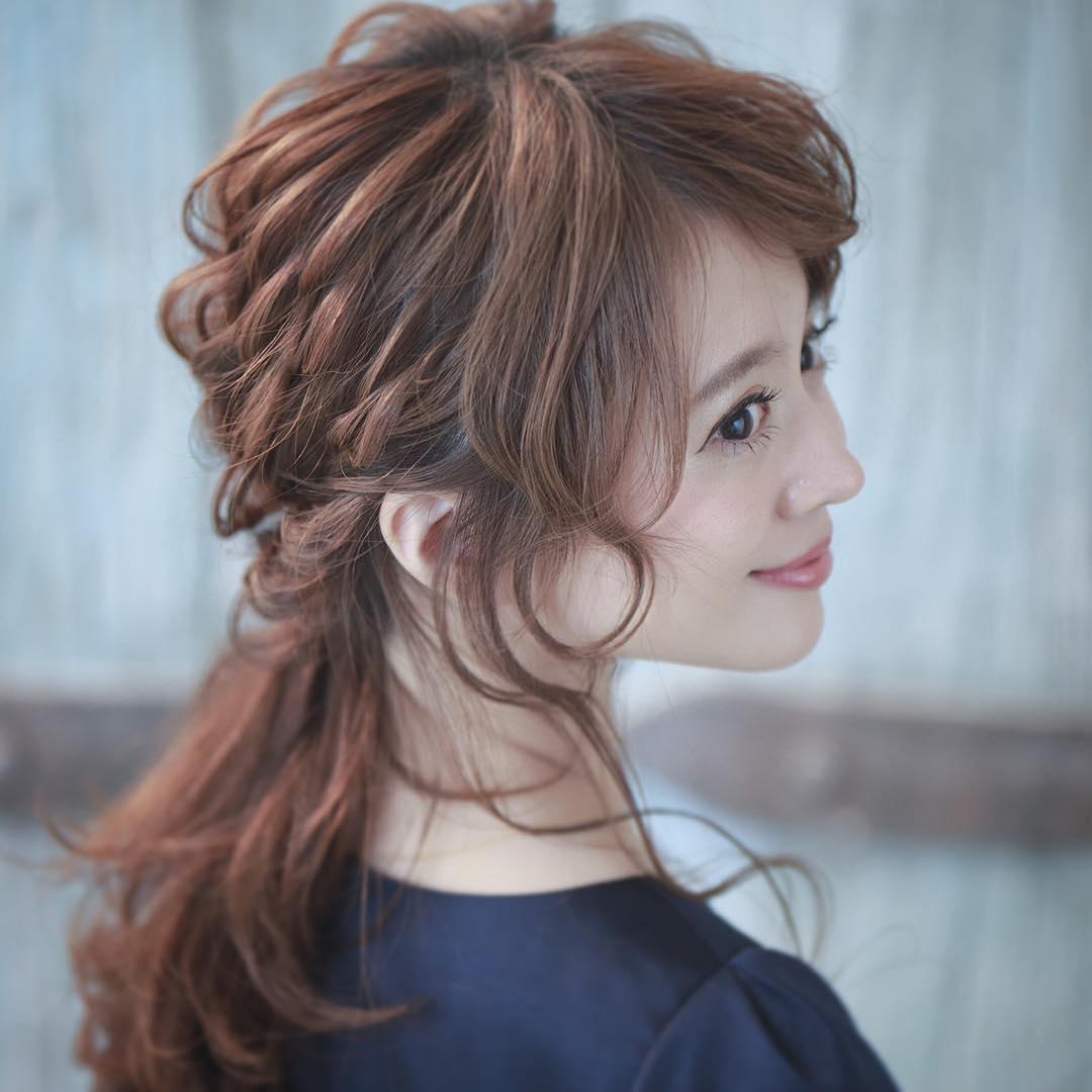 グリッターメイクに合うヘアスタイル♡10