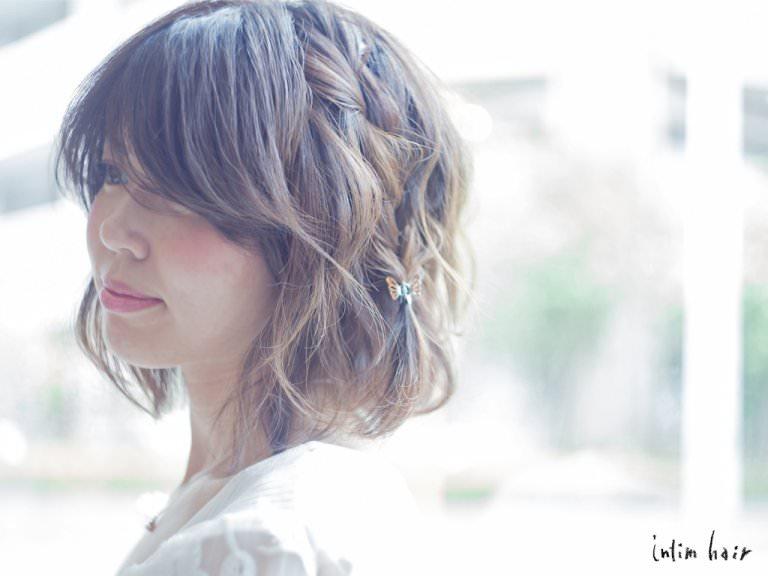 横顔美人になりたい!横顔を綺麗に見せるヘアアレンジ1