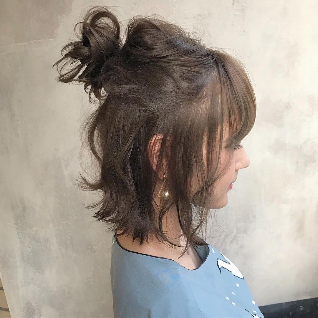 ナチュラルで大人っぽい☆シトラスカラーのアイテムに合うヘアアレンジ9
