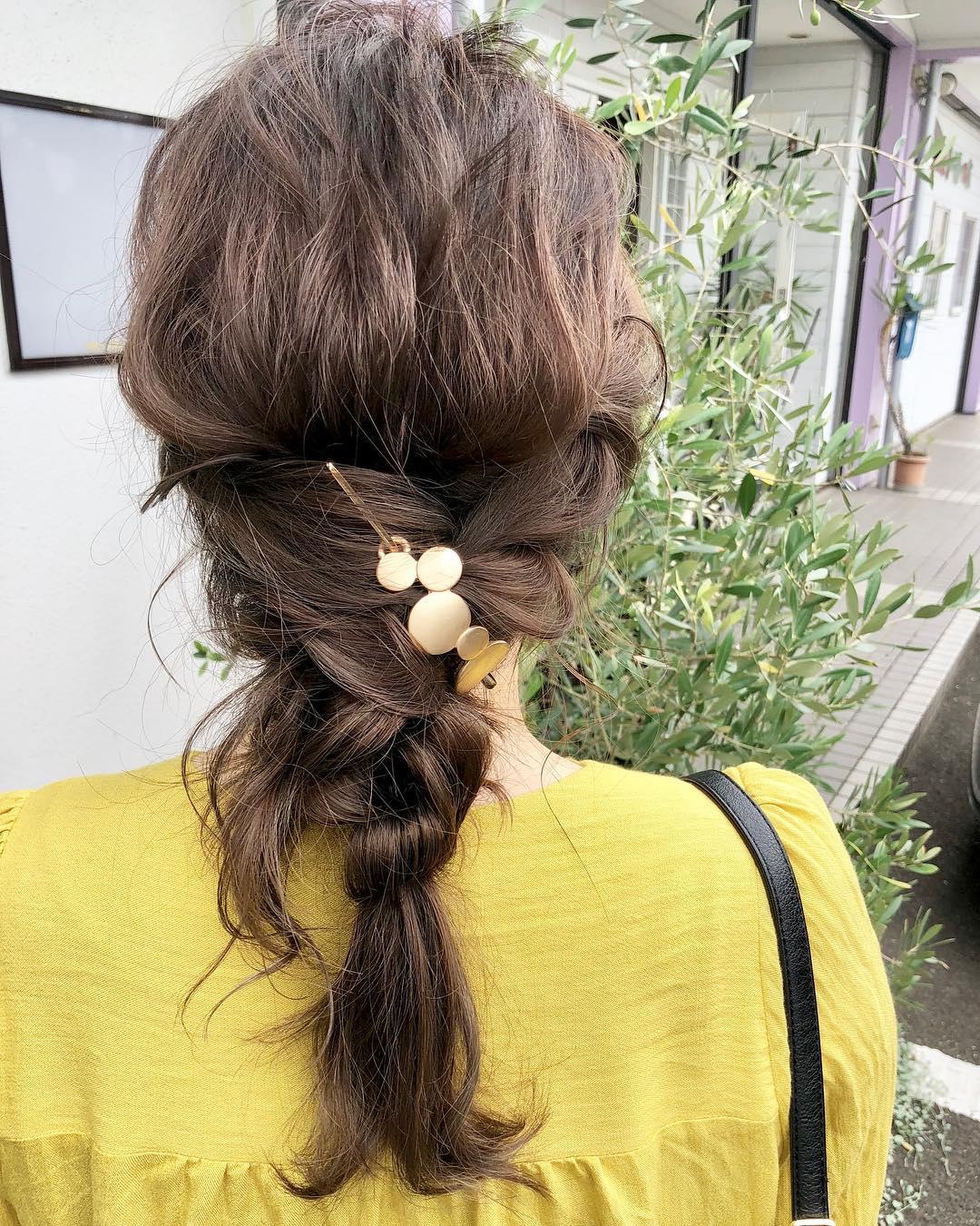 ナチュラルで大人っぽい☆シトラスカラーのアイテムに合うヘアアレンジ6