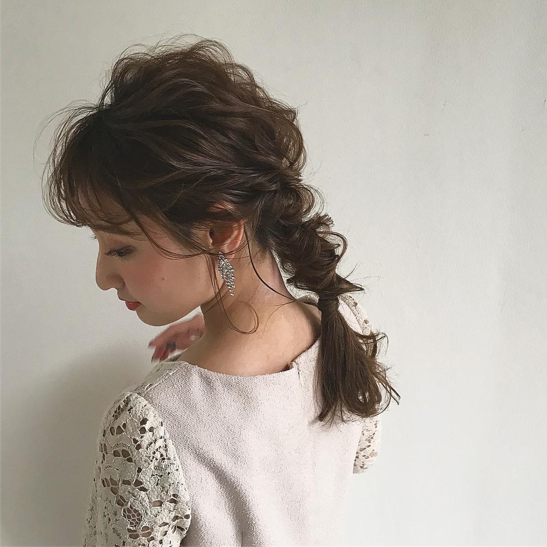横顔美人になりたい!横顔を綺麗に見せるヘアアレンジ6
