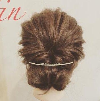 自分で髪が巻けない女子必見☆コテ要らずのゆるふわヘアアレンジ ギブソンタック