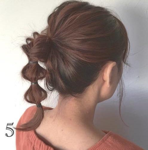 今季流行のアシンメトリートップス(ワンショルダー)に似合うヘアアレンジ 2