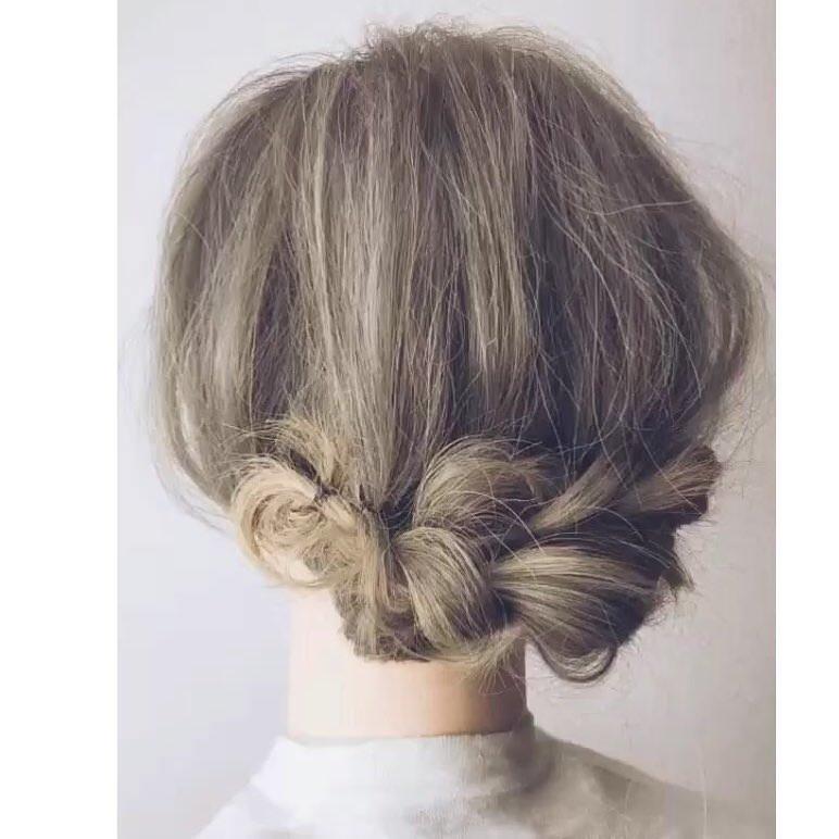 自分で髪が巻けない女子必見☆コテ要らずのゆるふわヘアアレンジ 三つ編み逆リンパ 後ろ編み目