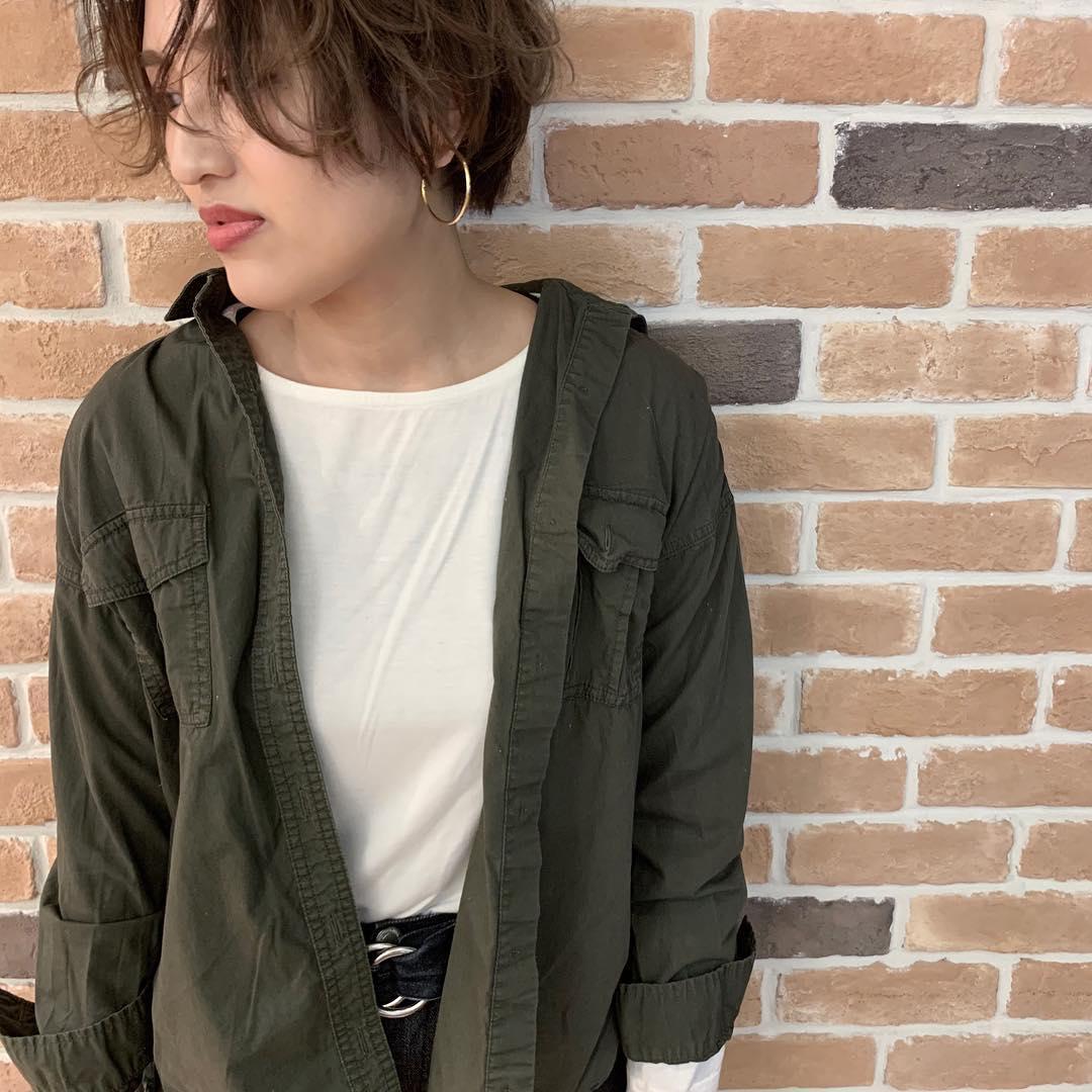 秋コーデにぴったり♪シャツジャケットに合うヘアアレンジ9