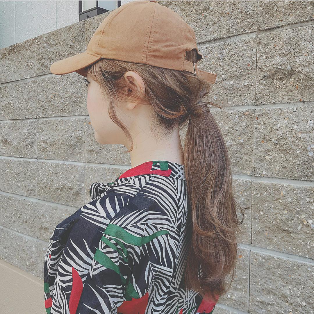 ファッションとヘアの相性は?トレンドのレトロ柄に合うヘアアレンジ2