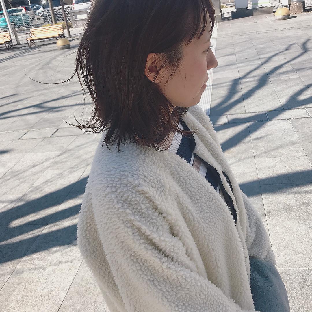 大注目のトレンドアイテム☆ボアコートにぴったりのヘアアレンジ2