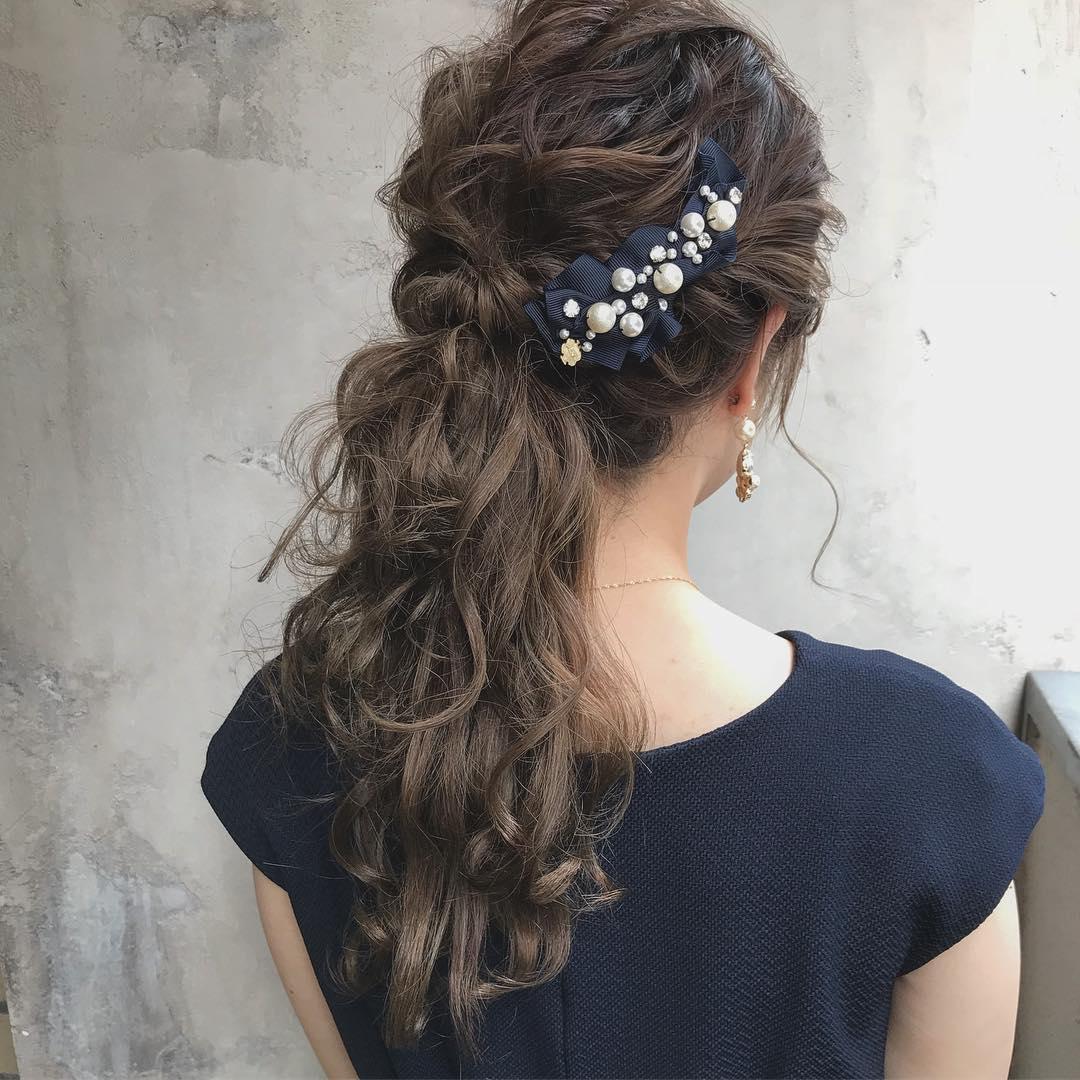 キラキラパールが冬っぽくてカワイイ♡パールのヘアアクセに似合うヘアアレンジ10