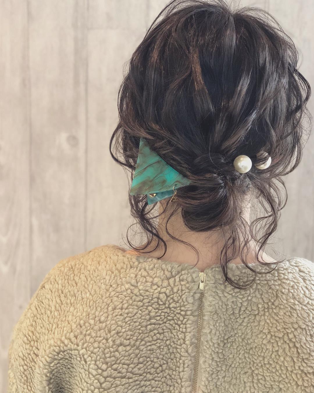 キラキラパールが冬っぽくてカワイイ♡パールのヘアアクセに似合うヘアアレンジ3