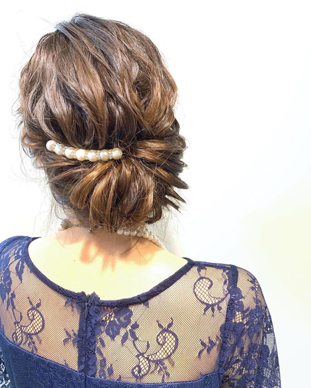 キラキラパールが冬っぽくてカワイイ♡パールのヘアアクセに似合うヘアアレンジ7