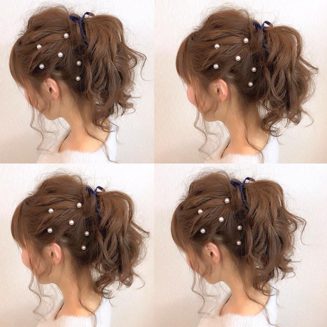 キラキラパールが冬っぽくてカワイイ♡パールのヘアアクセに似合うヘアアレンジ6