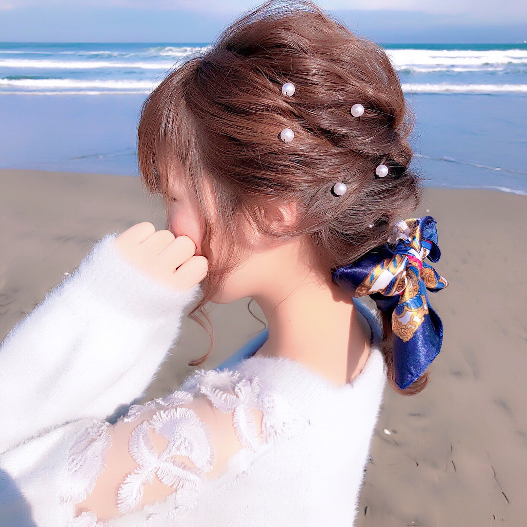 キラキラパールが冬っぽくてカワイイ♡パールのヘアアクセに似合うヘアアレンジ4