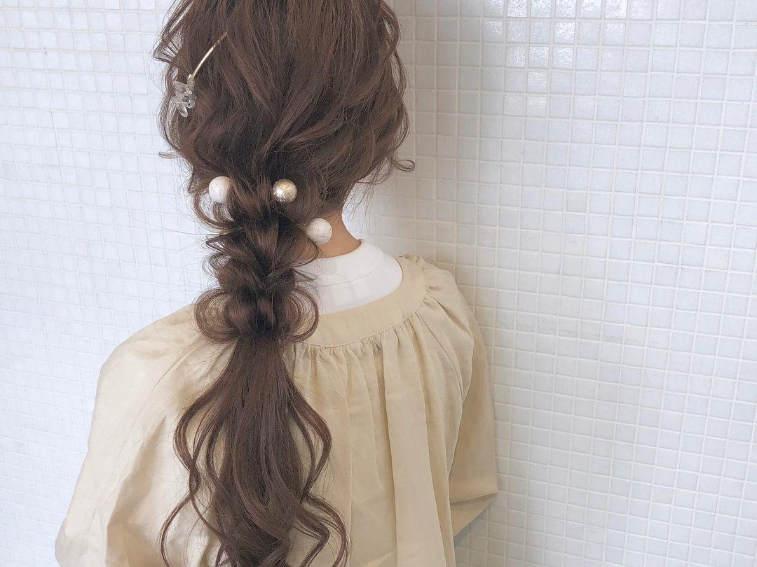 キラキラパールが冬っぽくてカワイイ♡パールのヘアアクセに似合うヘアアレンジ8