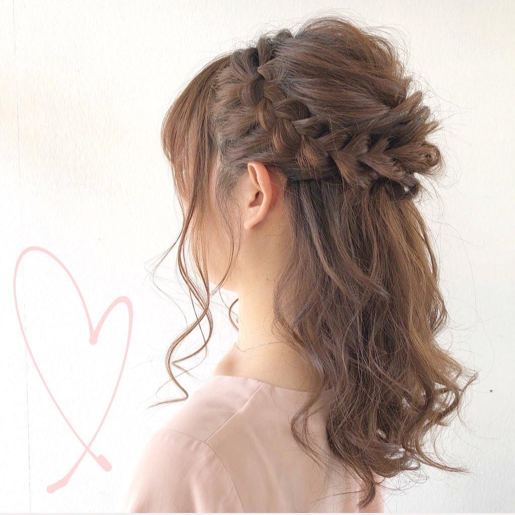周りと差がつくポイント☆おくれ毛必須のヘアアレンジ1