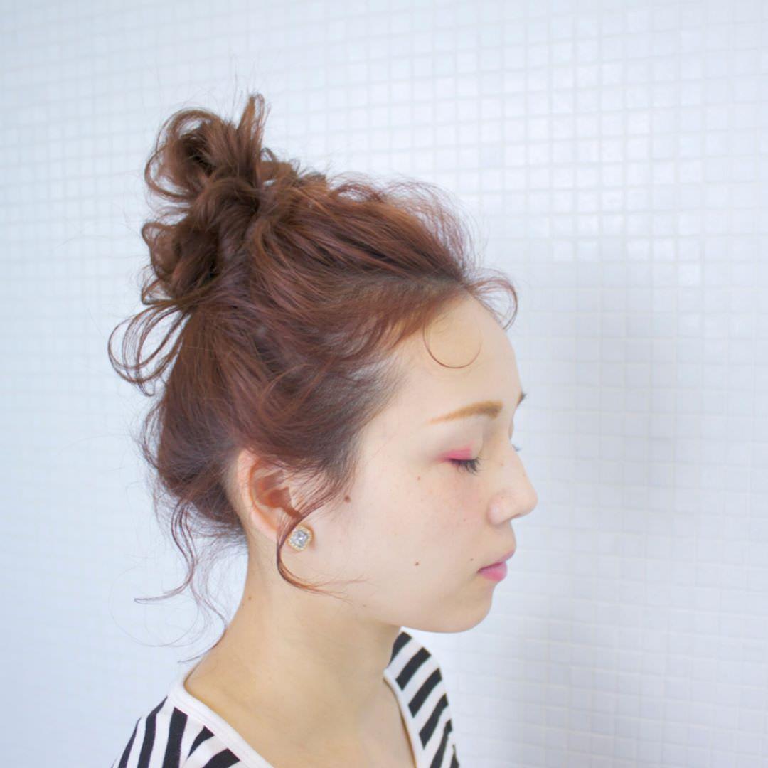 渋色リップやパステルアイシャドウなど♡2020年流行のメイクに似合うヘアスタイル1