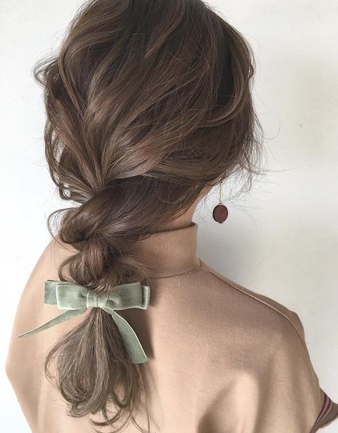 リボンを使ったヘアアクセで、冬のデートを成功させてリア充女子になっちゃおう☆